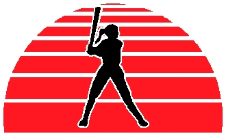 Ladies softball action sports sticker. Customize on line. 1A6 - softball sticker decal
