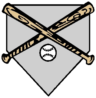 Baseball gear sports sticker. Customize as you order. 1A9 - ball, bat and base decal