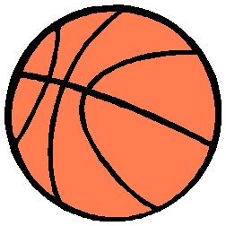 Basketball sports action decal. Personalize as you order. 1B1 - basketball decal