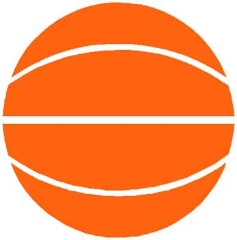 Basketball sports decal in color. Personalize on line. 1B2- basketball decal