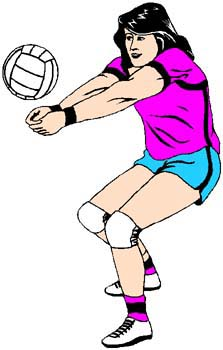 Lady athlete vollyball player sports sticker. Personalize on line. 1B20 - lady volleyball player decal