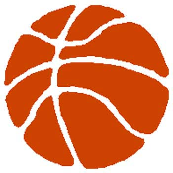 Basketball color sports decal. Customize on line. 1B4 - basketball sticker