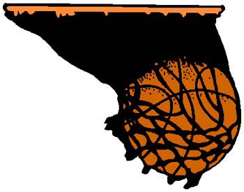 Basketball sports sticker. Customize on line. 1B6- basketball decal