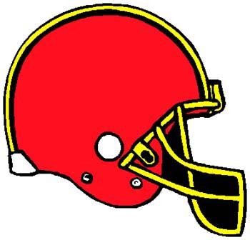 Football helmet full color sports decal. Personalize on line. 1C1 - football helmet decal