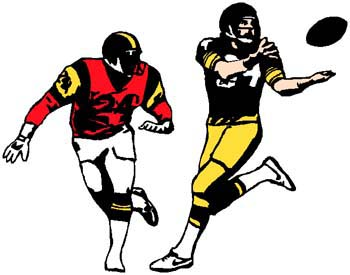Football players action sports sticker. Customize on line. 1C10 - football players in game vinyl sticker decals