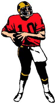 Football player number 10 full color sports sticker. Personalize on line. 1C11- football player number 10 vinyl decal