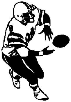 Football player sports action decal. Customize on line. 1C12 - football player decal