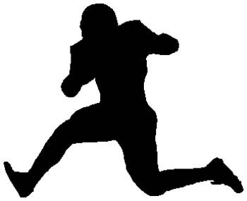 Football player sports sticker. Make it personal on line. 1C20- football player decal