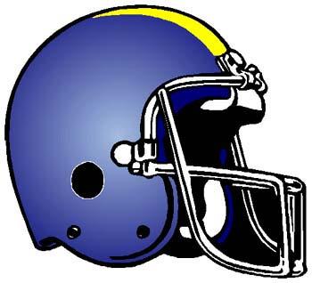 Football helmet sports decal. Personalize as you order. 1C7 - football helmet