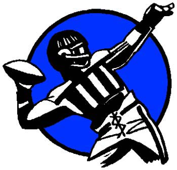 Football player color action sports decal. Customize as you order. 1C9 - football decal