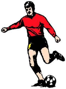 Soccer player full color sports decal. Personalize as you order. 1D10- soccer players decal
