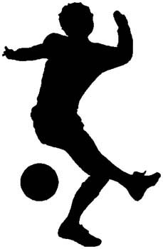 Soccer action sports decal. Customize as you order on line. 1D13- soccer players decal