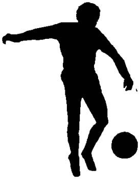 Soccer player action sports decal. Customize on line. 1D14- soccer players decal