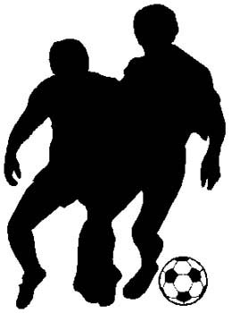 Soccer action sports sticker. Customize on line. 1D15- soccer players decal