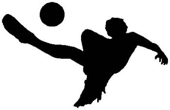 Soccer action sports decal. Customize as you order. 1D16- soccer players decal