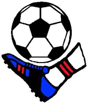 Soccer player action sports decal. Personalize on line. 1D6 - soccer ball and kicker decal