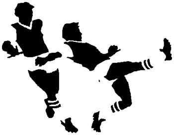 Soccer game action sports decal. Customize as you order. 1D8 - soccer players decal