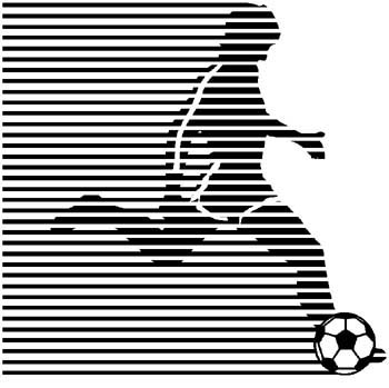 Soccer players sports sticker. Customize on line. 1D9- soccer players decal