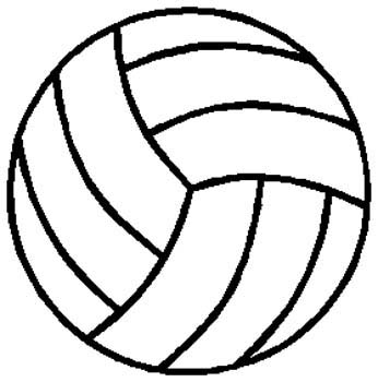 Volleyball  sports sticker. Personalize on line. 1E1- volley ball decal