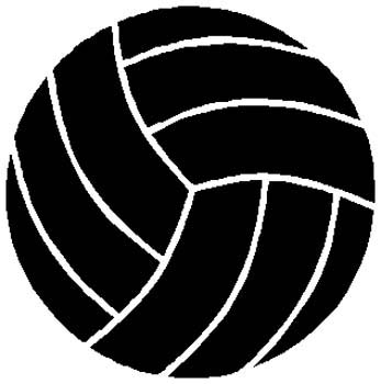 Volleyball sports sticker. Personalize on line. 1E10- volley ball decal