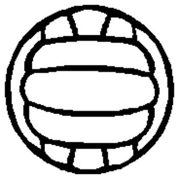 1E3- volley ball decal