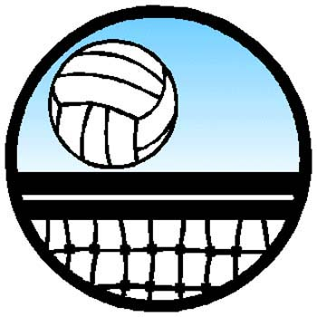 Volleyball action sports decal. Personalize on line as you order. 1E5- volley ball decal
