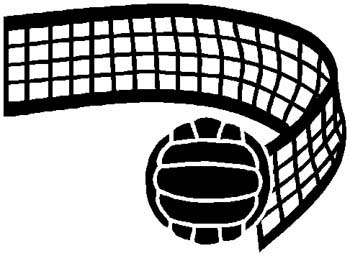 Volleyball sports sticker. Customize on line. 1E6- volley ball decal