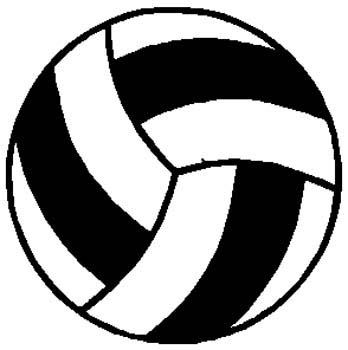 Volleyball sports decal. Customize as you order. 1E9- volley ball decal
