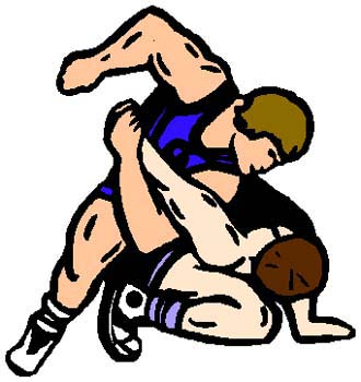 Wrestling action sports sticker. Personalize on line as you order. 1F2- wrestling decal