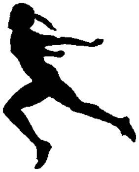 Lady runner action sports decal. Customize on line. 1G20-woman runner winner decal