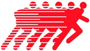 Runner action sports decal. Personalize on line. 1G3- runner decals