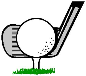 Golf ball and tee sports decal. Customize as you order. 1J10-golf ball and tee vinyl sticker decal
