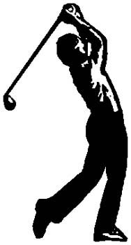 Golfing gear sports decal. Personalize on line. 1J11-golf ball and tee vinyl sticker decal