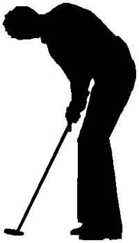 Golfing action sports sticker. Customize on line. 1J15- golfer vinyl sticker graphic decal