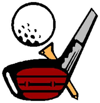 Golfing gear sports sticker. Customize on line. 1J3-golf ball and tee decal