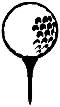 Golf gear sports decal. Personalize on line. 1J7-golf ball and tee vinyl sticker decal