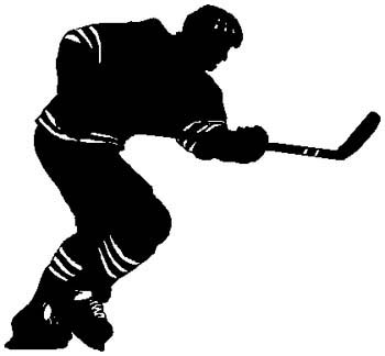 1K18A - hockey player vinyl decal