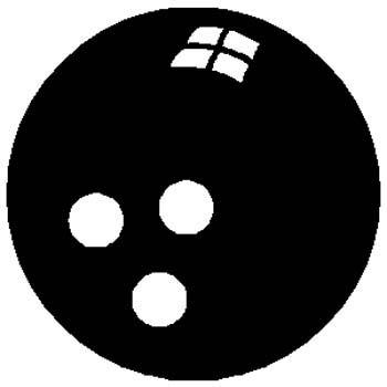 Bowling ball sports sticker. Customize on line. 1L2 - bowling ball decal