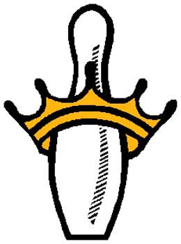 King pin sports decal. Personalize as you order. 1L4 - king pin vinyl sticker