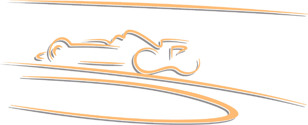 Race car action sports sticker. Personalize on line. AUTO_BOAT_2C_15