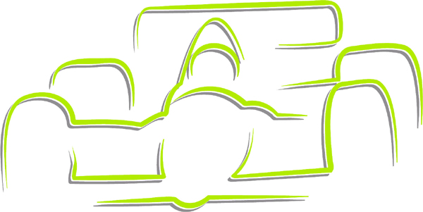 Race car color action sports decal. Personalize on line. AUTO_BOAT_2C_26