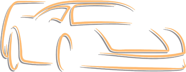 Classy car color sports decal. Customize on line. AUTO_BOAT_2C_30