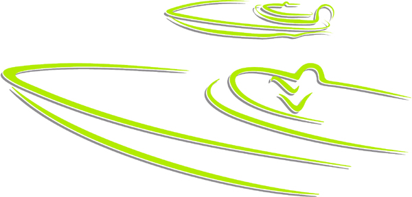 Speed boats color sports decal. Personalize on line. AUTO_BOAT_2C_33