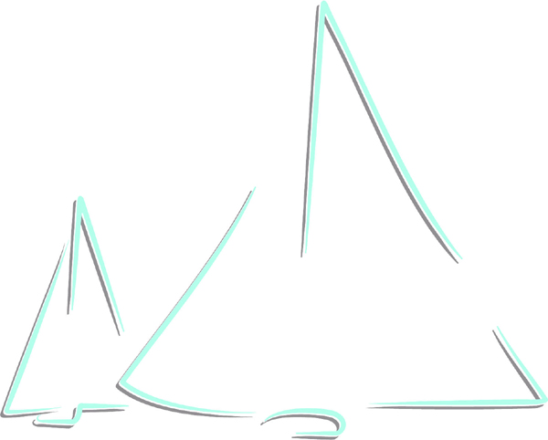 Sailboats color sports decal. Customize on line. AUTO_BOAT_2C_44