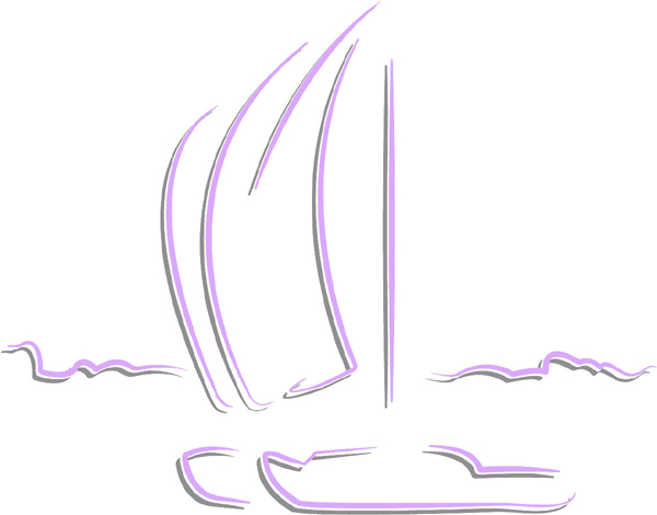 Sailboats color sports sticker. Customize on line. AUTO_BOAT_2C_45