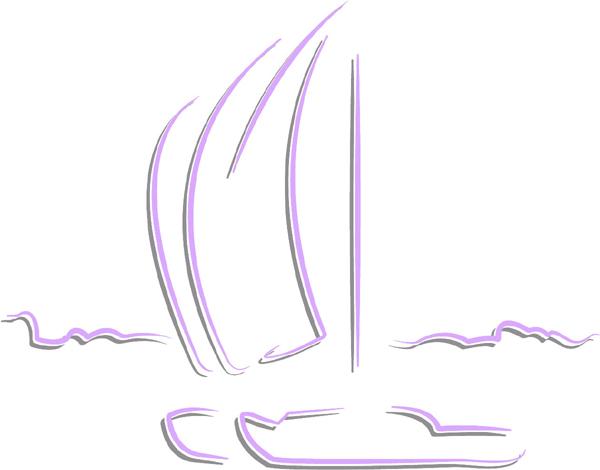 Sailboats color sports sticker. Customize on line. AUTO_BOAT_2C_45