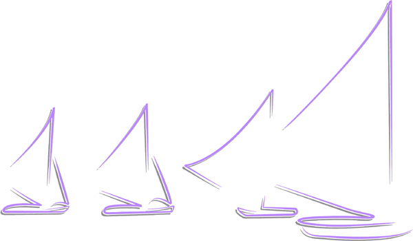 Sailboats color action sports decal. Personalize on line. AUTO_BOAT_2C_48