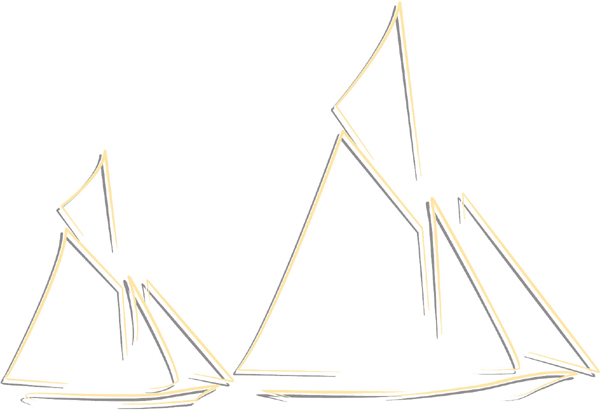 Sail boats color sports decal. Customize on line. AUTO_BOAT_2C_51