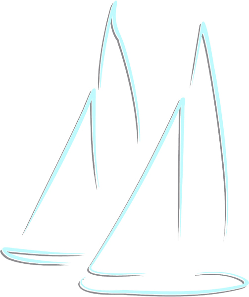 Sailboats color sports decal. Personalize on line. AUTO_BOAT_2C_52