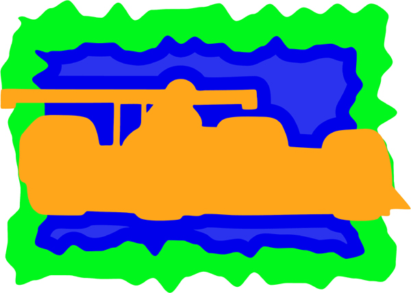 Race car full color sports decal. Personalize on line. AUTO_BOAT_3C_00